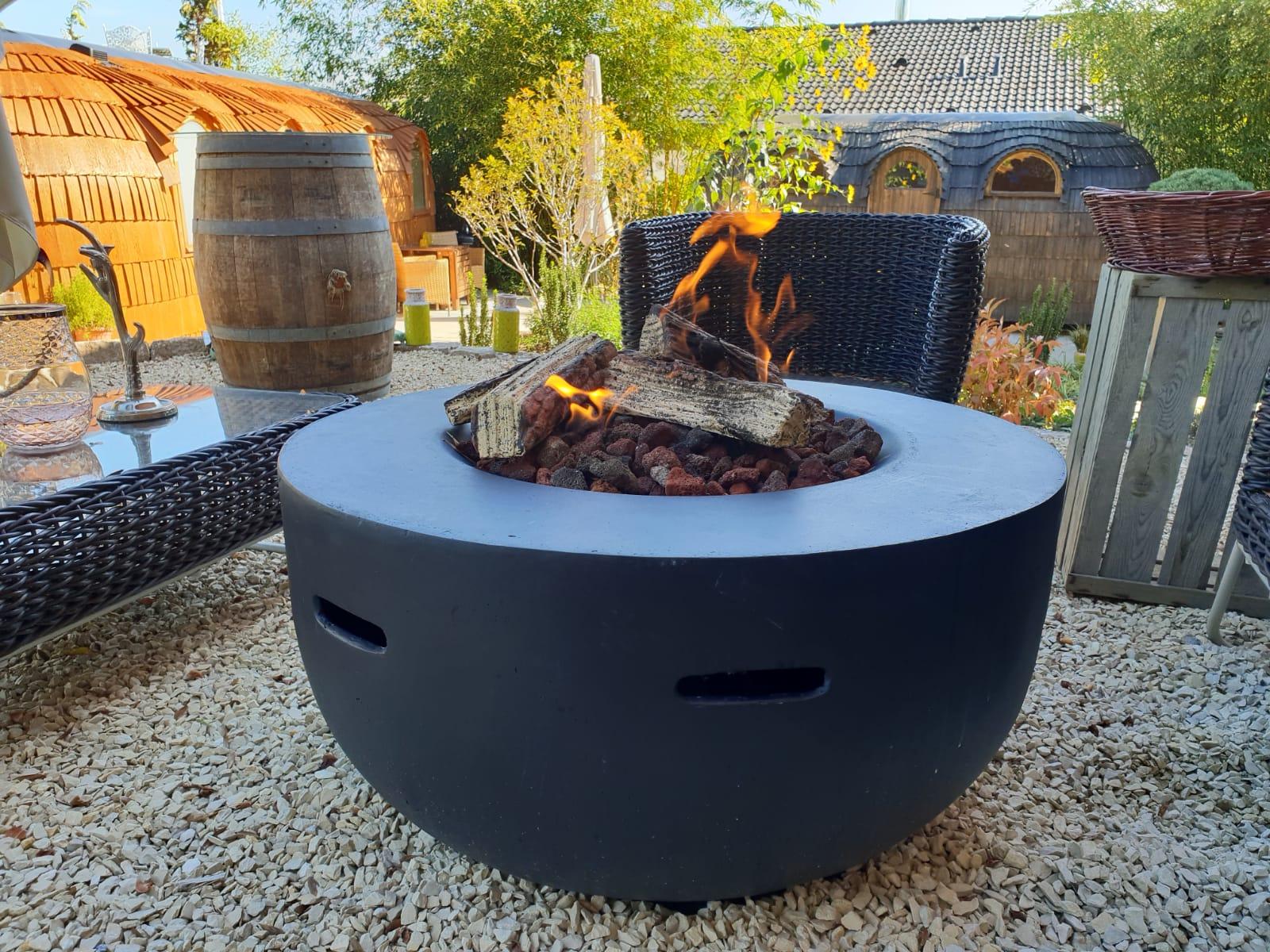 Feuerstätte für den Garten mit Gas